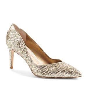 Sam Edelman Orella Pumps Gold Metallic Pointy Toe